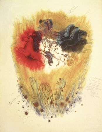 リトグラフ Rubin - Four Spirits of the Heavens – From the Portfolio Visions of the Bible