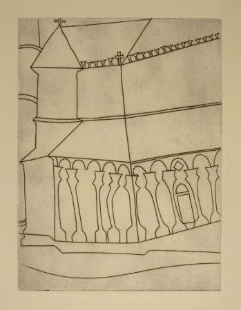 エッチング Nicholson - Fragment of Tuscan Cathedral