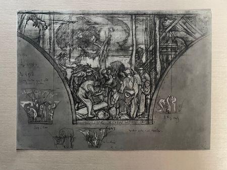 リトグラフ Brangwyn   - Frank Brangwyn - Limited Edition Lithograph entitled 'Building a New Home' 1927