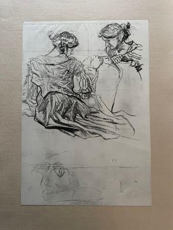リトグラフ Brangwyn   - Frank Brangwyn - Limited Edition Lithograph entitled 'Etude de femmes' 1927