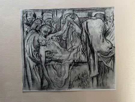 リトグラフ Brangwyn   - Frank Brangwyn - Limited Edition Lithograph entitled 'La Mise au tombeau'