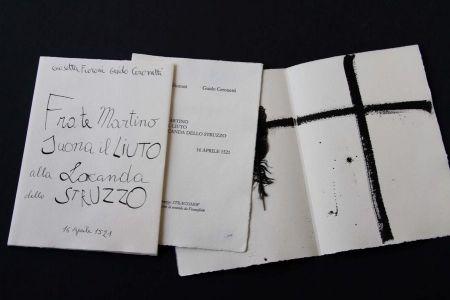 挿絵入り本 Fioroni - Frate Martino suona il liuto alla locanda dello struzzo