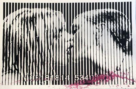 シルクスクリーン Mr. Brainwash - Freedom Kiss (Pink Splash)
