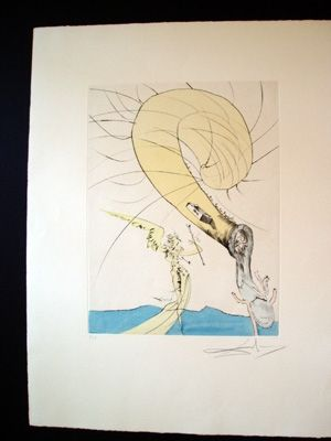 彫版 Dali - Freud With A Snail's Head