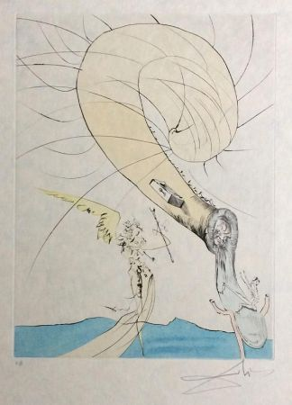 彫版 Dali - Freud with Snail Head