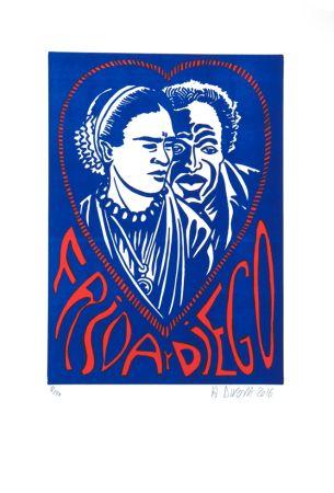 リトグラフ Di Rosa - Frida Y Diego