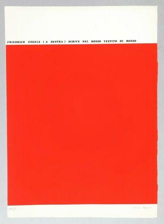 シルクスクリーン Isgro - Friedrich Engels (a destra) scrive nel rosso vestito di rosso