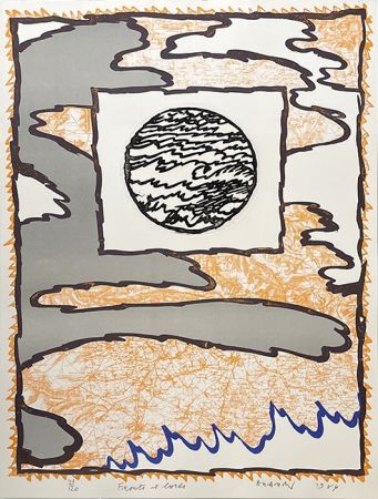 彫版 Alechinsky - Fronts et bords