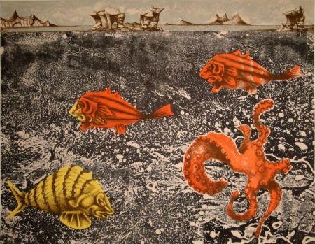 リトグラフ Lurcat - Fruits de mer