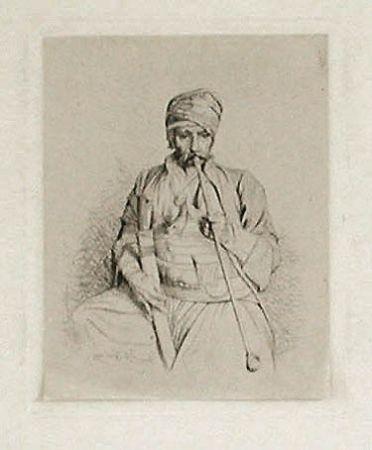 彫版 Gérôme - Fumeur égyptien au turban