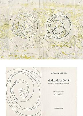 挿絵入り本 Ernst - Galapagos - Les îles du bout du monde