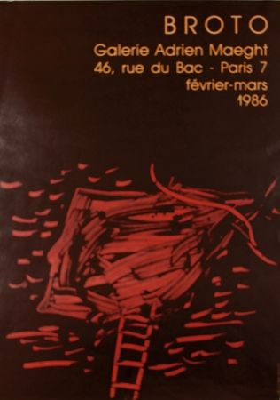 リトグラフ Broto - Galerie  Adrien Maeght