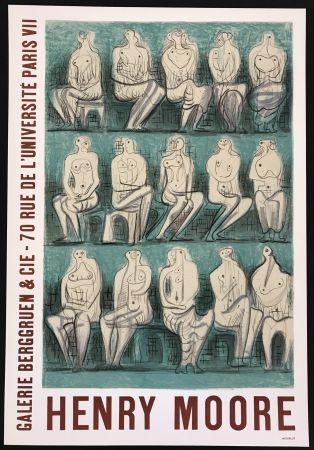 掲示 Moore - Galerie Berggruen & Cie (Seated Figures)