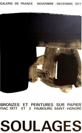 オフセット Soulages - Galerie de France    Fiac