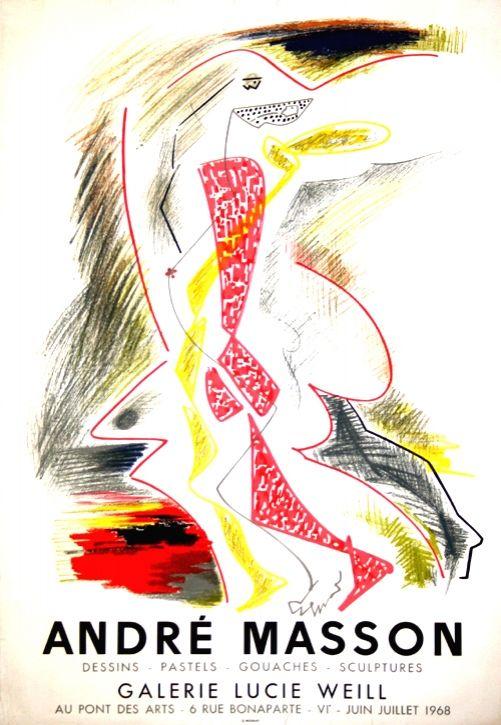 リトグラフ Masson - Galerie Lucie Weill 1968