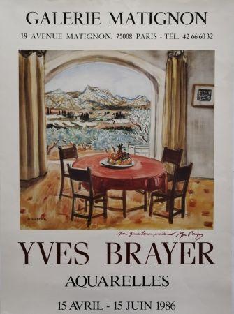 掲示 Brayer - Galerie Matignon - 1986 - Aquarelles