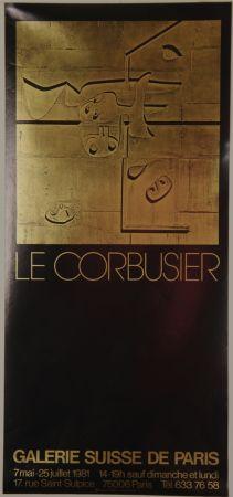 リトグラフ Le Corbusier - Galerie Suisse de Paris Juillet 1981