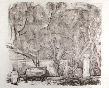 リトグラフ Purrmann - Garten in Levanto