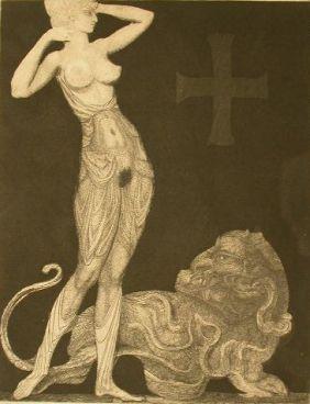 エッチング Fuchs - Genie und Tier