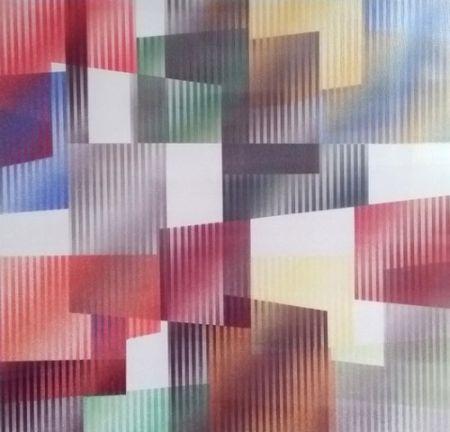 シルクスクリーン Agam - Geometric 3 Agam