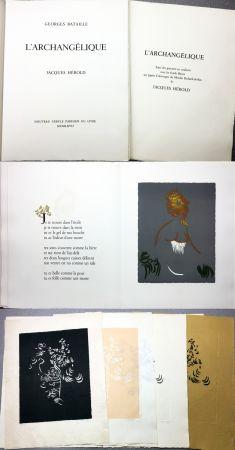 挿絵入り本 Herold - Georges Bataille : L'ARCHANGÉLIQUE. Notes sur Georges Bataille par Patrick Waldberg.