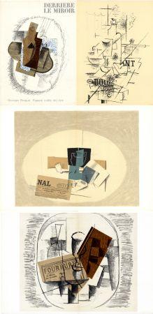 挿絵入り本 Braque - GEORGES BRAQUE. Papiers collés 1912-1914. Derrière le Miroir n° 138. Mai 1963.