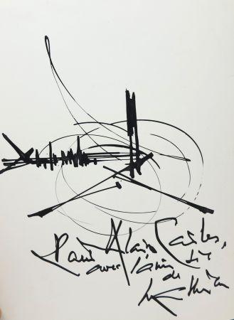 技術的なありません Mathieu - Georges Mathieu (1921-2012). Encre et pinceau. Signé.