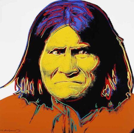 シルクスクリーン Warhol - Geronimo, from Cowboys and Indians