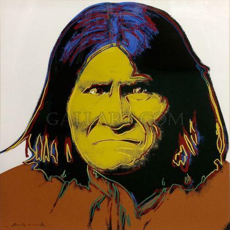 シルクスクリーン Warhol - Geronimo Fs Ii.384