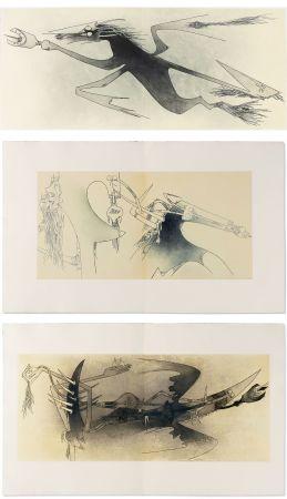 挿絵入り本 Lam - Ghérasim Luca : Apostroph'Apocalypse. 14 eaux-fortes de Wifredo Lam (1967).