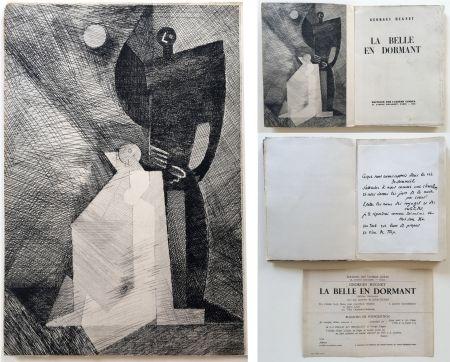 挿絵入り本 Marcoussis - G.Hugnet : LA BELLE EN DORMANT. 1 des 10 avec l'eau-forte de Marcoussis (1933).