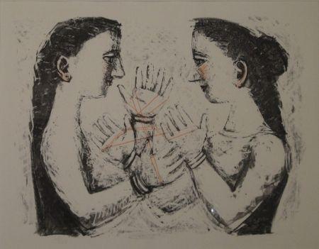 リトグラフ Campigli - Gioco Con il Filo