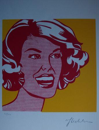 シルクスクリーン Lichtenstein - Girl