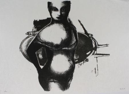 リトグラフ Butler - Girl
