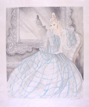 エッチング Icart - Girl in Crinoline - Miroir de Venise