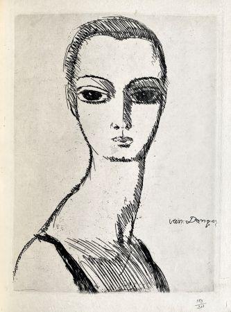彫版 Van Dongen - Girl with swans neck