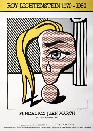 技術的なありません Lichtenstein - Girl with Tear III Poster (Hand Signed)