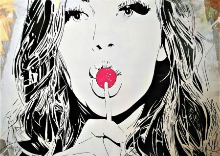 シルクスクリーン Darbon - GIRL WITH THE LOLLIPOP