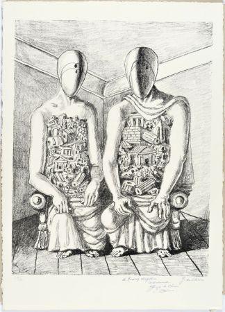 リトグラフ De Chirico - Gli Archeologi V