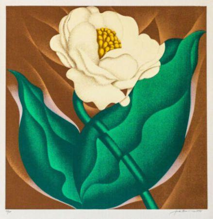 シルクスクリーン Brusca - Globe Flower