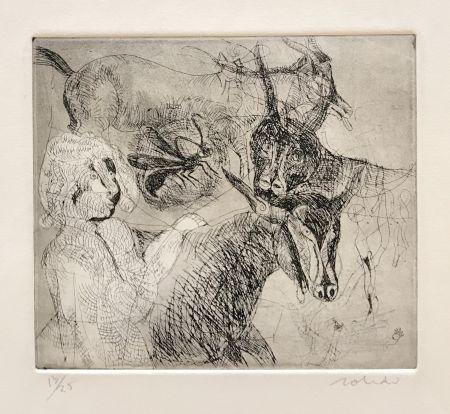彫版 Toledo - Goats with Woman