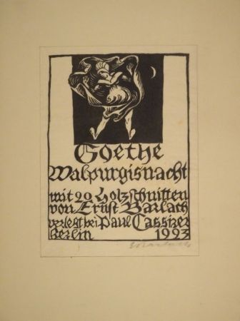 木版 Barlach - GOETHE, J. W. von. Walpurgisnacht.