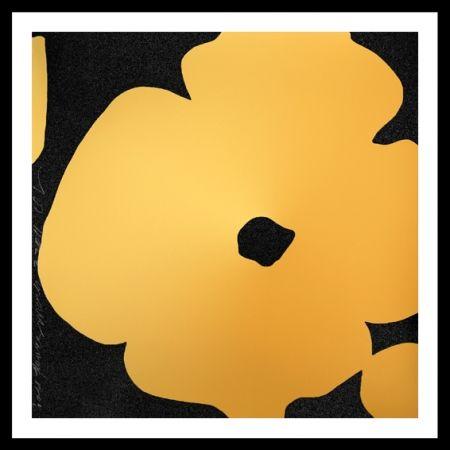 シルクスクリーン Sultan - Gold Flower