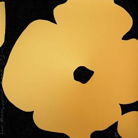 シルクスクリーン Sultan - Gold Flowers
