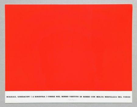 シルクスクリーン Isgro - Gorbaciov corre nel rosso (Storie rosse)