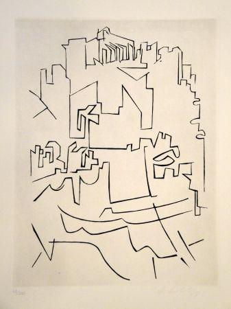 彫版 Vasarely - Gordes Village