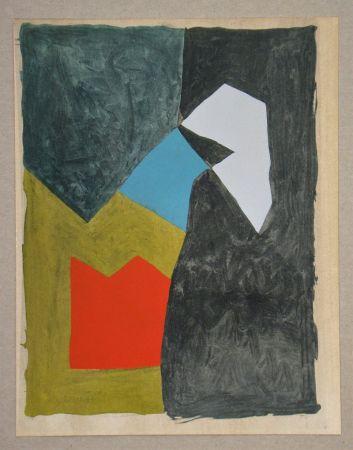 ステンシル Poliakoff - Gouache, 1955