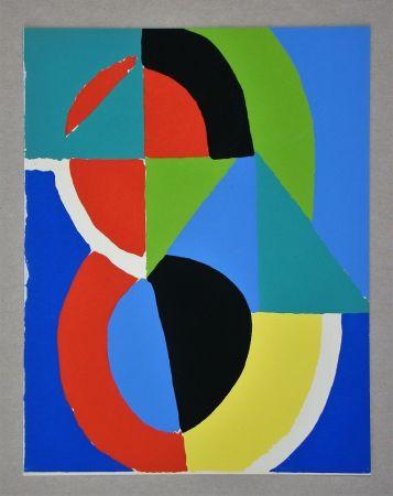 ステンシル Delaunay - Gouache, 1955