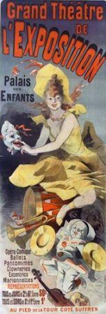 リトグラフ Cheret - Grand Theatre de l'Exposition