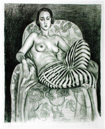 リトグラフ Matisse - Grande odalisque à la culotte bayadère